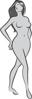 LAVEL - sylwetka kobieca do pomocy przy doborze rozmiaru