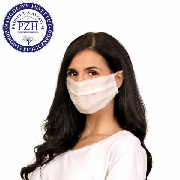 dostepna maska ochronna jednorazowa przod atest higieniczny