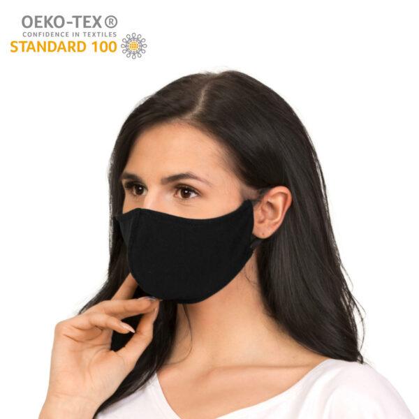 dostepna maska ochronna wielorazowa bawelniania czarne certyfikat skos 2