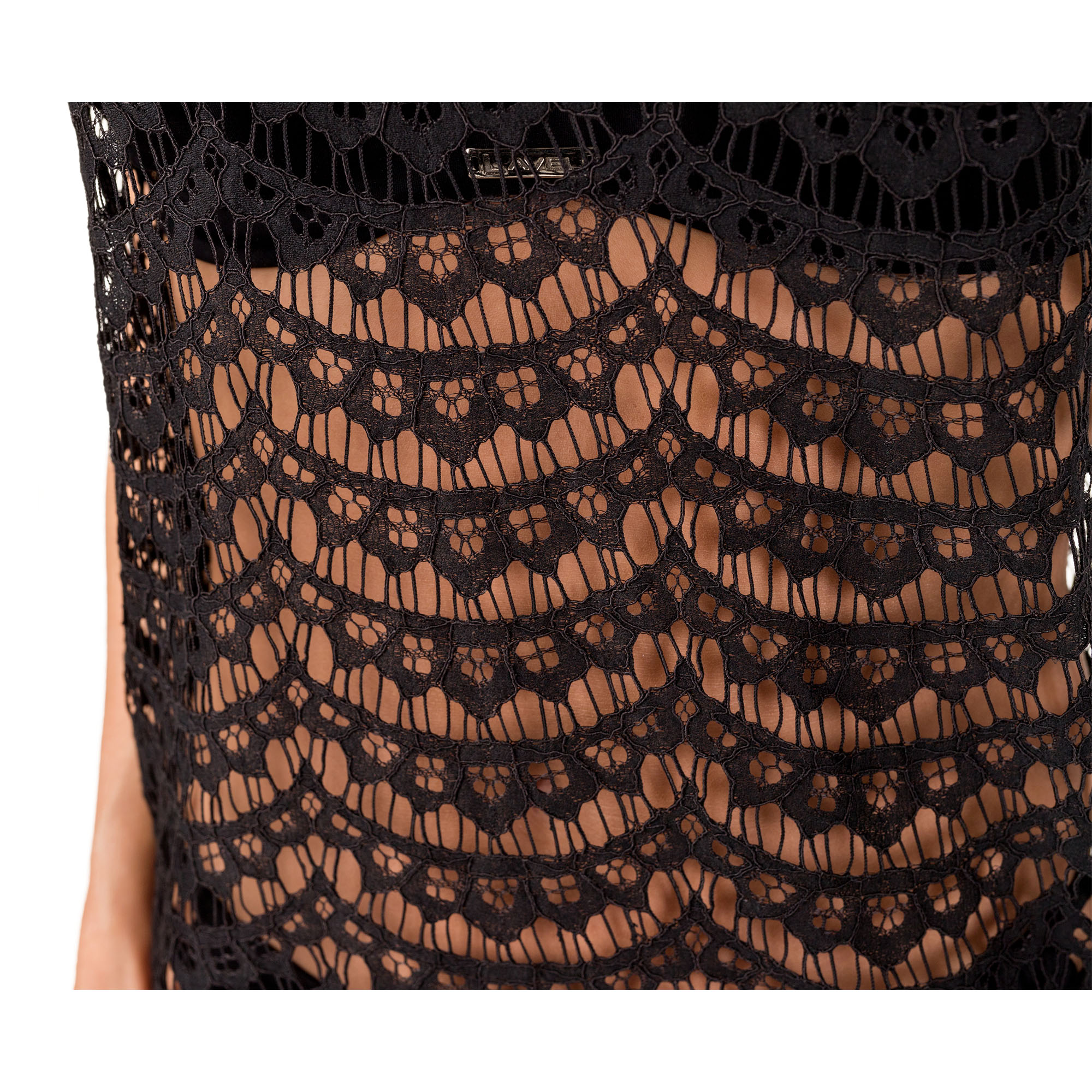 sukienka plazowa gabi k18 czarna material