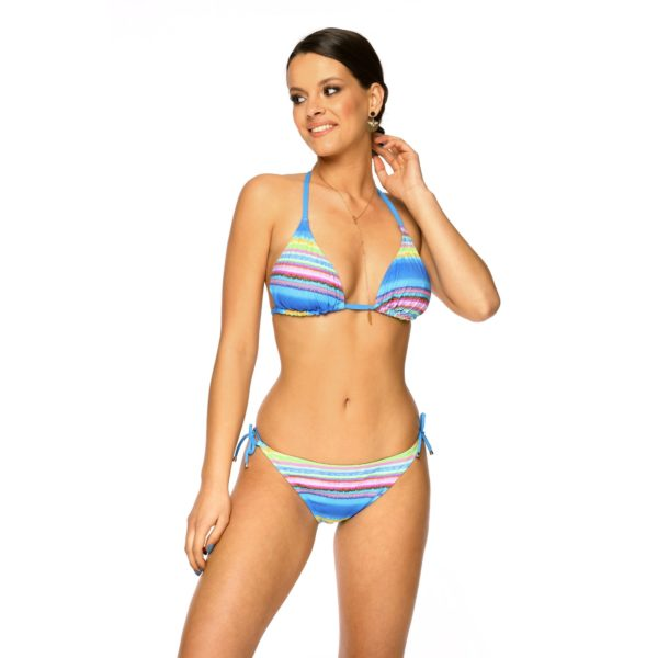 Dwuczesciowy Stroj kapielowy bikini MEGAN N7 Kolorowy LAVEL przod