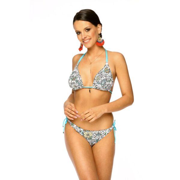 Dwuczesciowy Stroj kapielowy bikini MEGAN W4 Kolorowy LAVEL przod