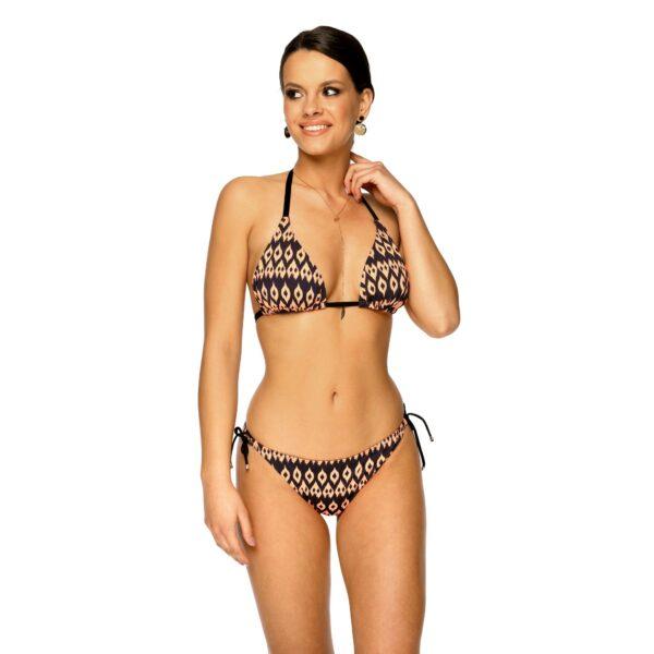Dwuczesciowy Stroj kapielowy bikini MEGAN Z14 Czarny LAVEL przod