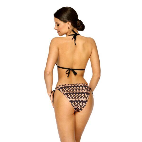 Dwuczesciowy Stroj kapielowy bikini MEGAN Z14 Czarny LAVEL tyl