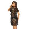Sukienka plazowa Akcesoria plazowe Tunika K18 Czarna LAVEL tyl