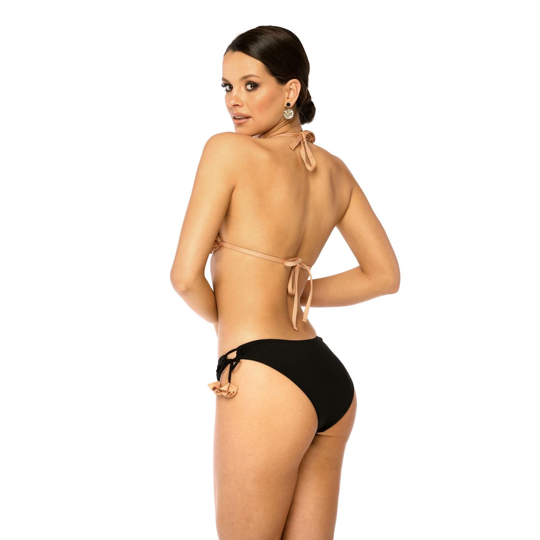 Bikini Biustonosz Kapielowy PUSH UP EDIT KN KAMELOWY LAVEL tyl
