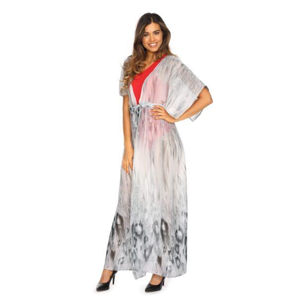 Sukienka Plazowa Dluga Kapielowa POPIELATA LUNA2 F13 LAVEL tyl
